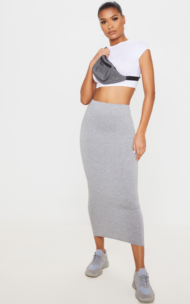 Basic Grey Midaxi Skirt 1