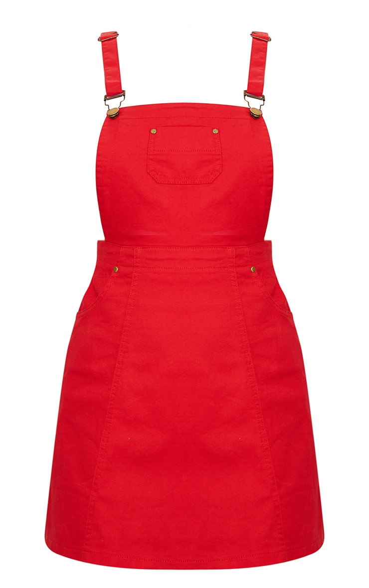 Red Pinafore Dress 3