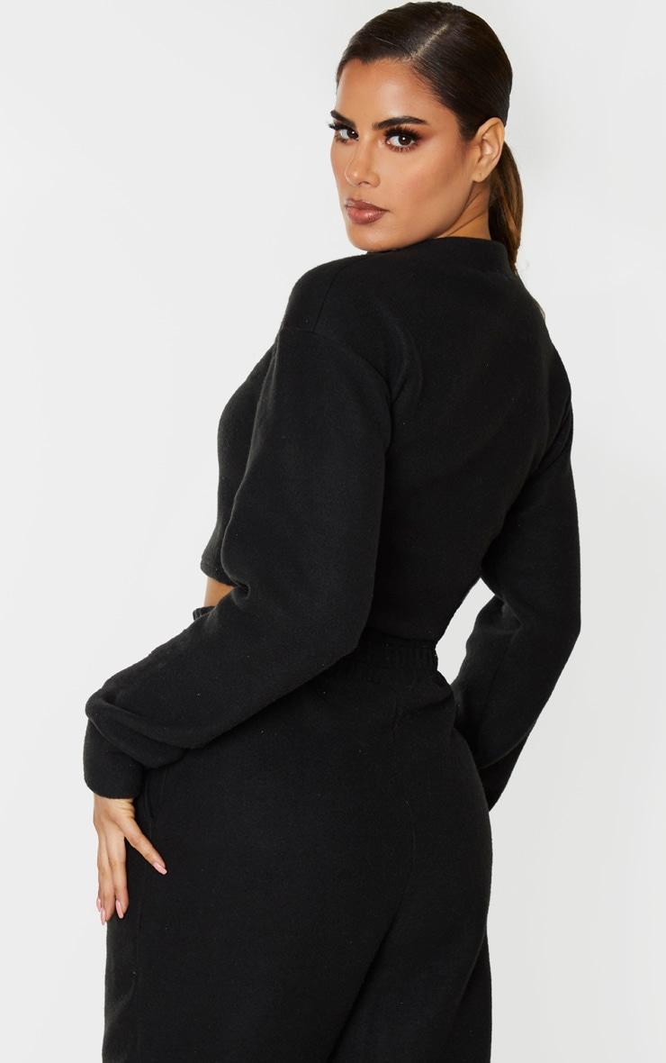 Tall Black Brushed Oversized Sweater 3