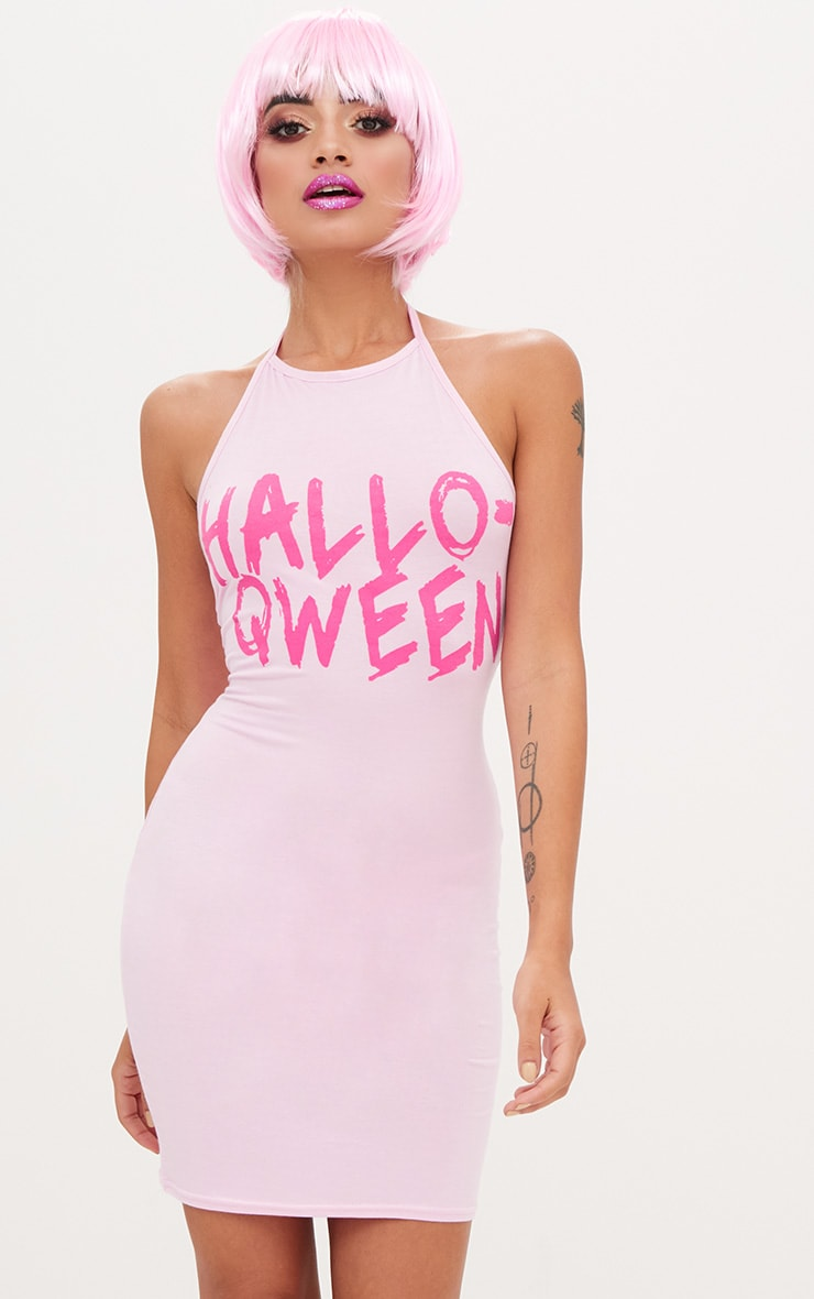Pink Jersey Hallo Qween Bodycon Dress 1