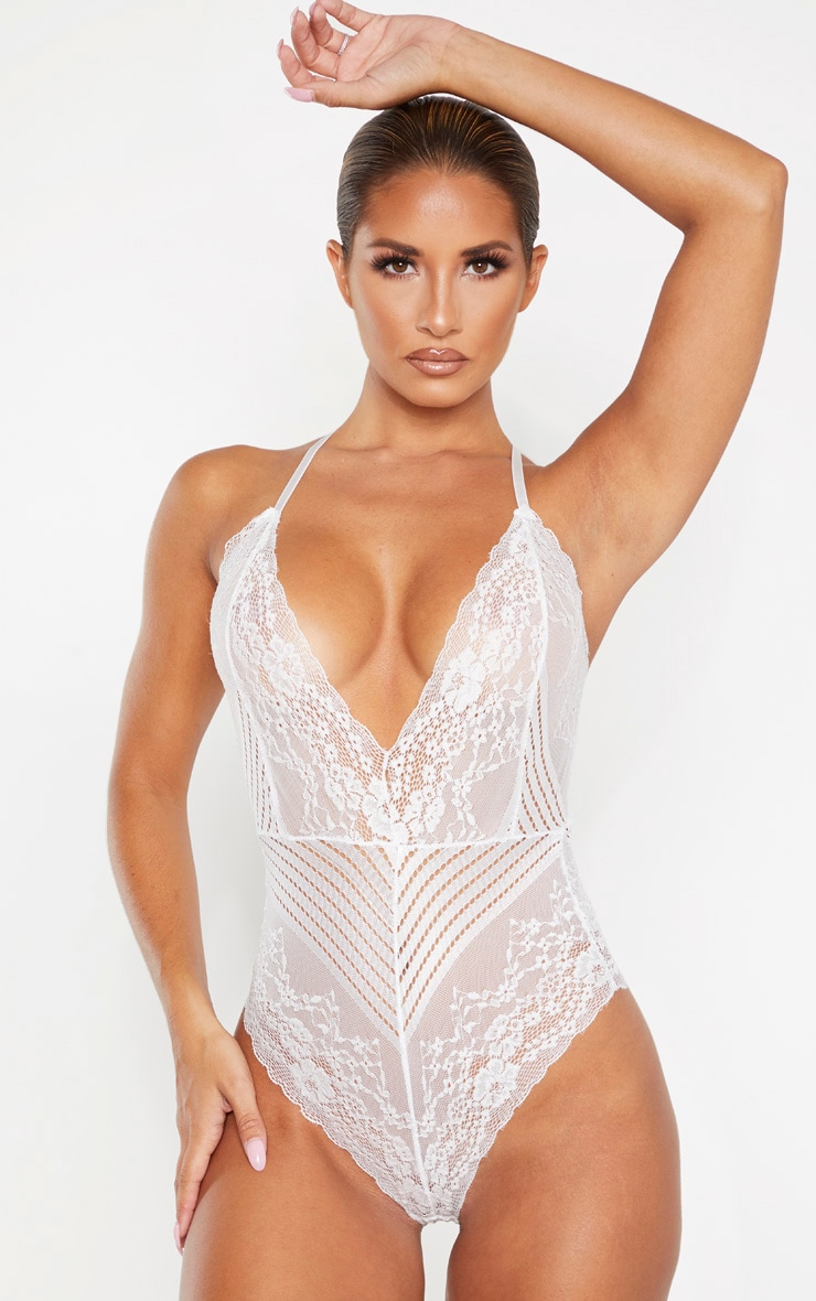 White Mixed Delicate Lace Body 1