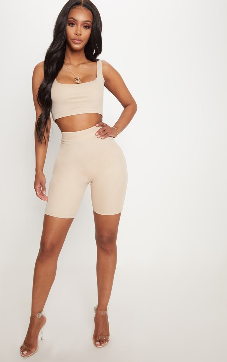 Shape Nude Mesh Cycling Shorts 5