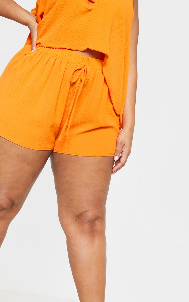 Plus Bright Orange Drawstring Shorts  6