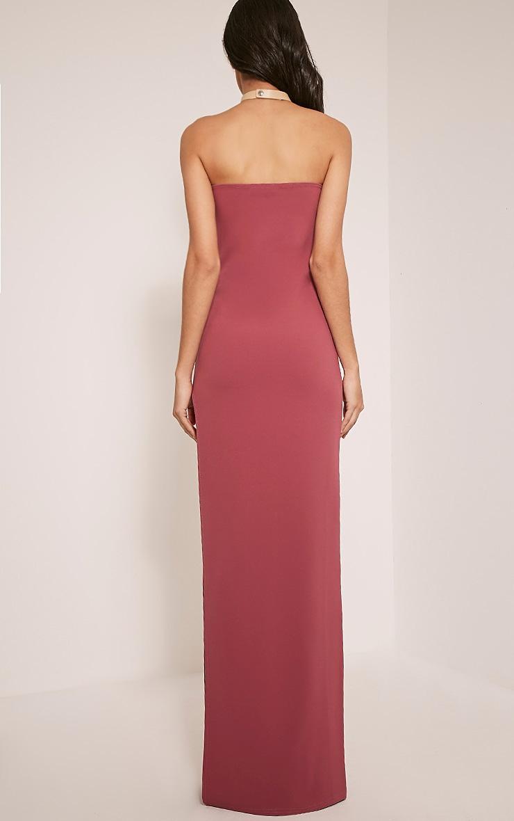 Marie Rose Extreme Split Bandeau Maxi Dress 2