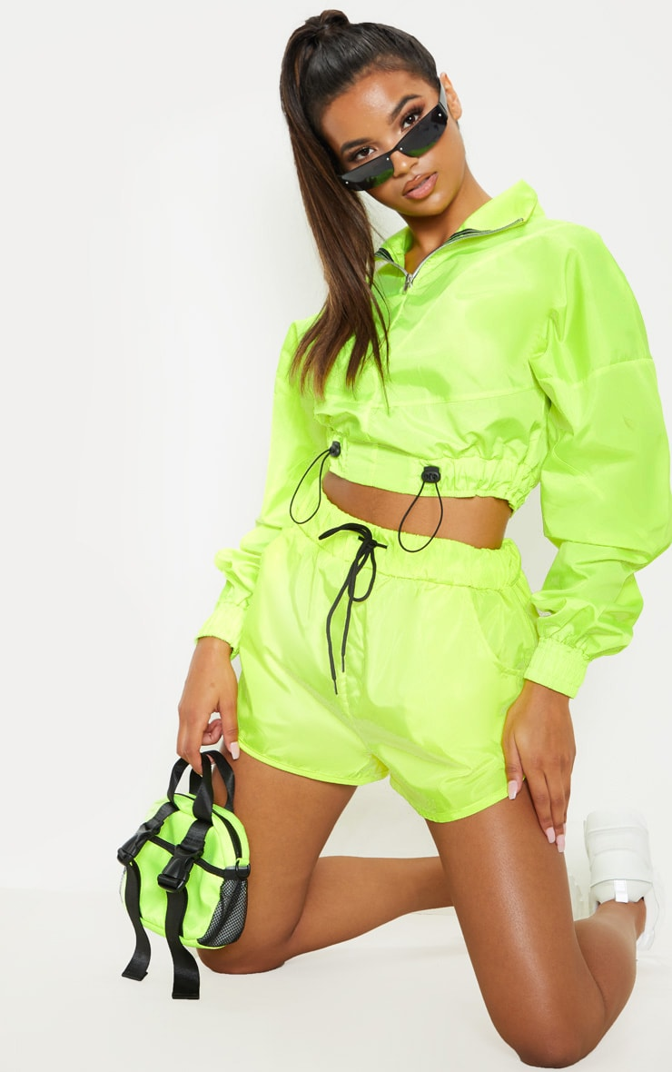 Lime Shell Pocket Detail Runner Short 1