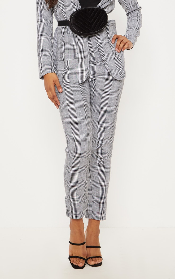 Tall Grey Checked Pants 5