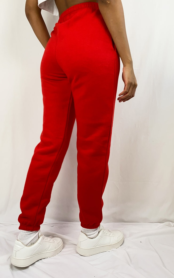 Red Sweat Pant Joggers 3