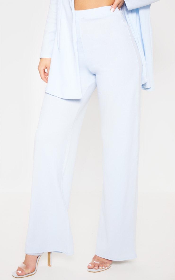 Baby Blue Wide Leg Suit Pants 2