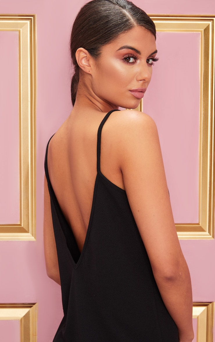 Black Strappy Detail Backless Cami Dress 5