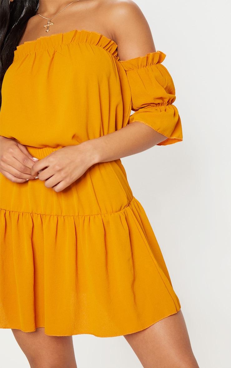 Mustard Chiffon Frill Hem Mini Skirt 6