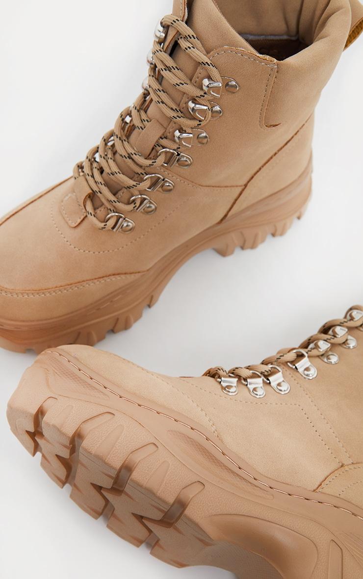 Sand Flatform Chunky Hiker Boot Trainers image 4