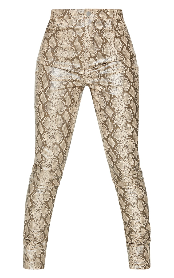 Stone Snake Faux Leather Skinny Pants 5