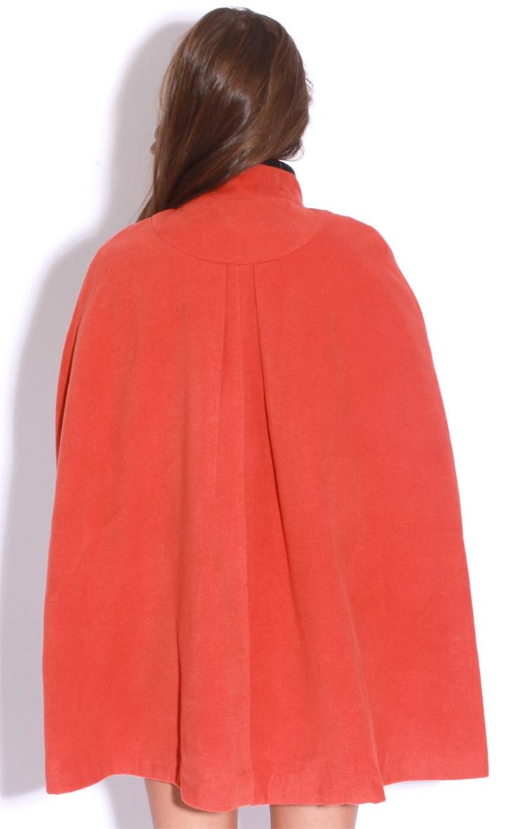 Renata Orange Buckle Cape Coat 2
