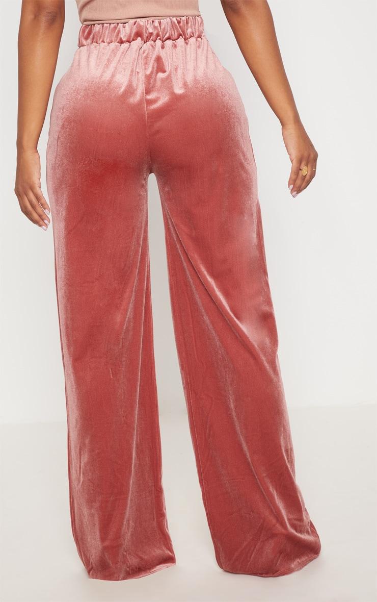 Shape Rose Velvet Extreme Wide Leg Trousers 3