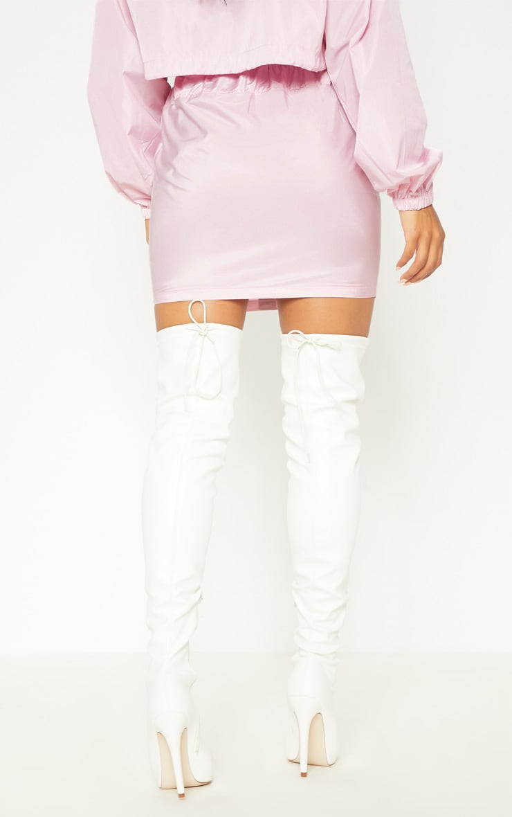 Pink Shell Suit Skirt 4