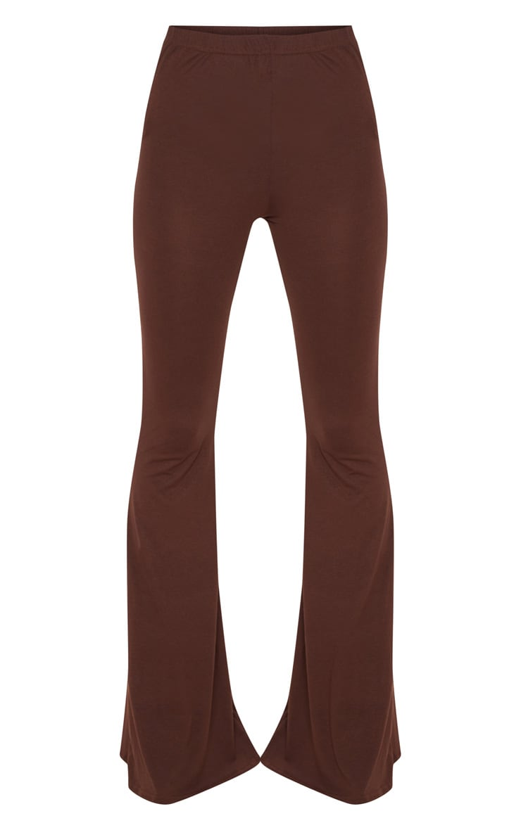 Chocolate Basic Jersey Flared Trouser 3