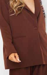 Chocolate Brown Oversized Dad Blazer 4