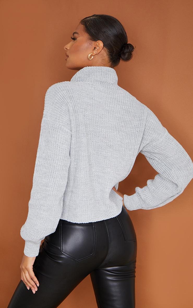 Grey High Neck Sweater 2