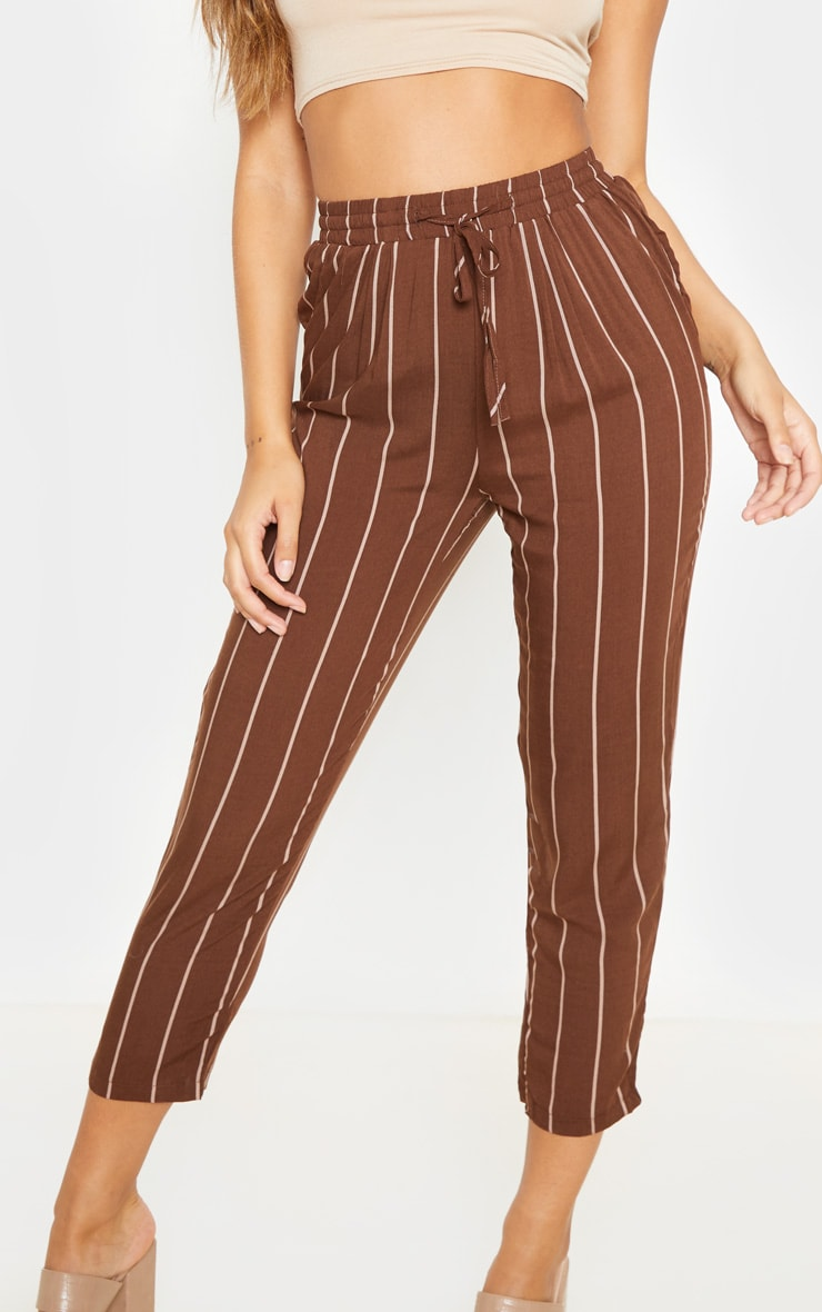 Chocolate Pinstripe Casual Pants 5