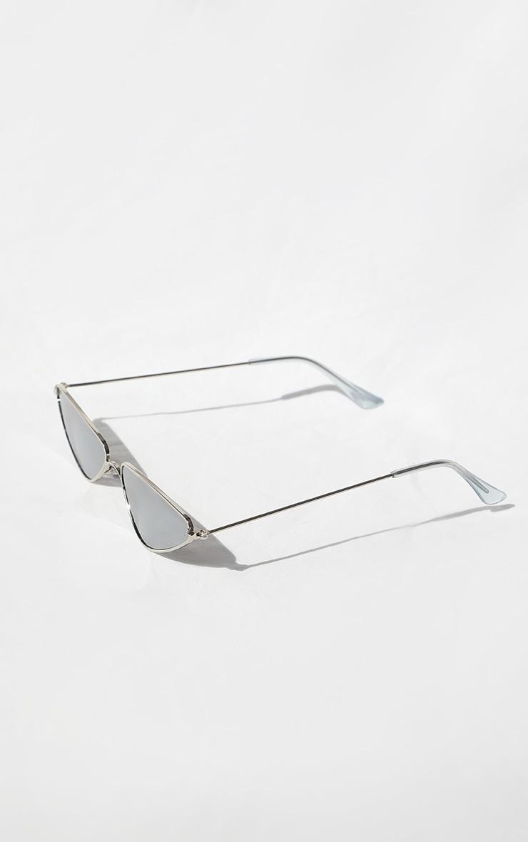 Silver Rim Cat Eye Sunglasses 3