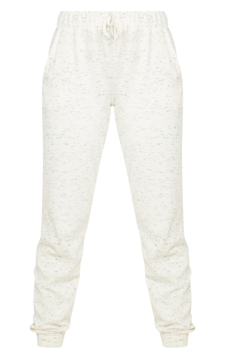 Cream Marl High Waisted Joggers 3