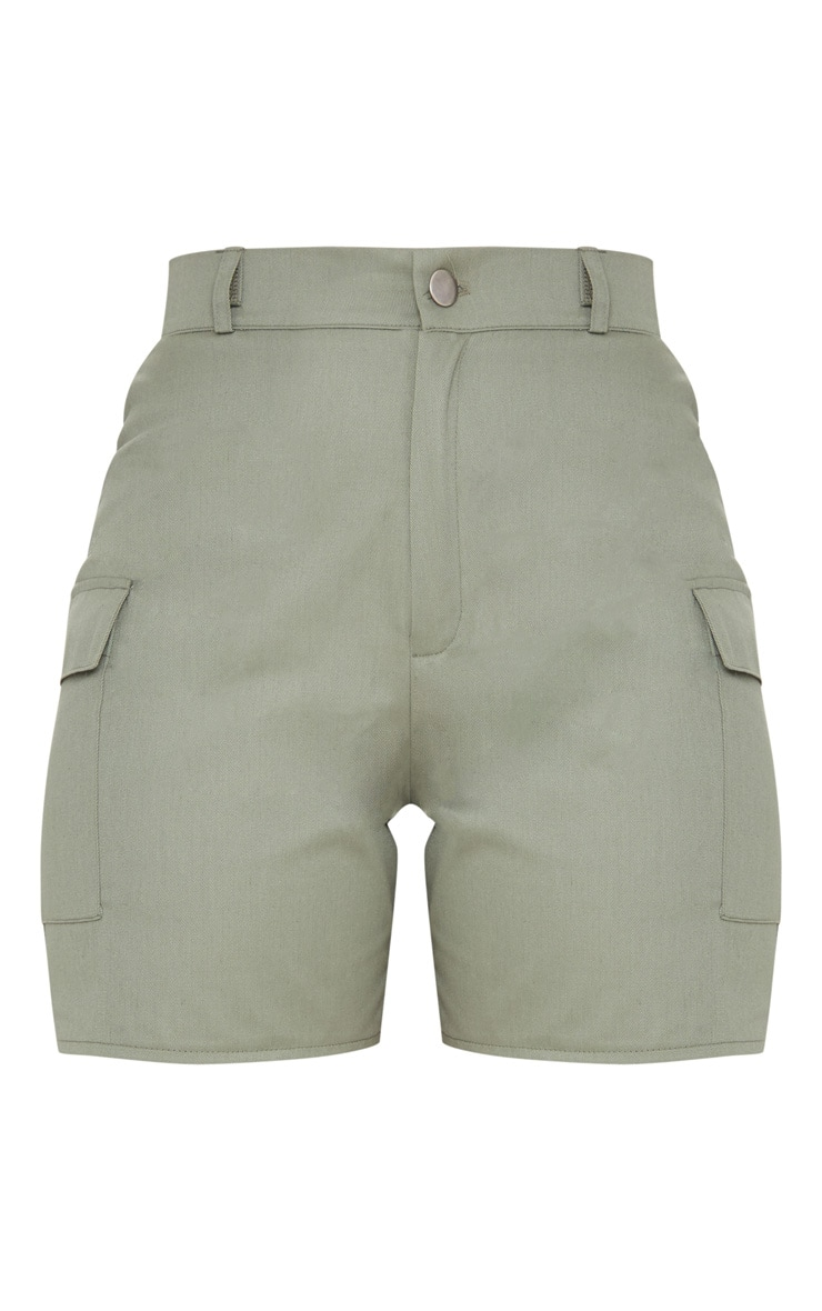 Khaki Cargo Pocket Shorts 3