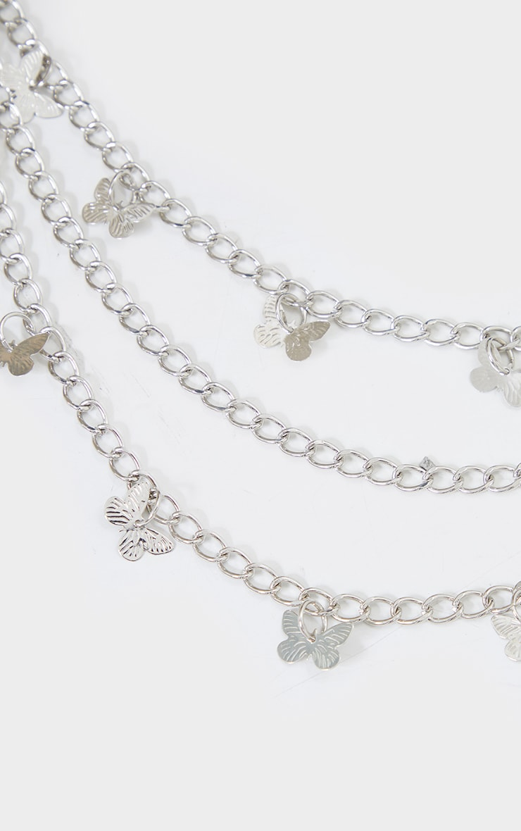 Silver Dainty Butterfly Layering Jean Chain 3
