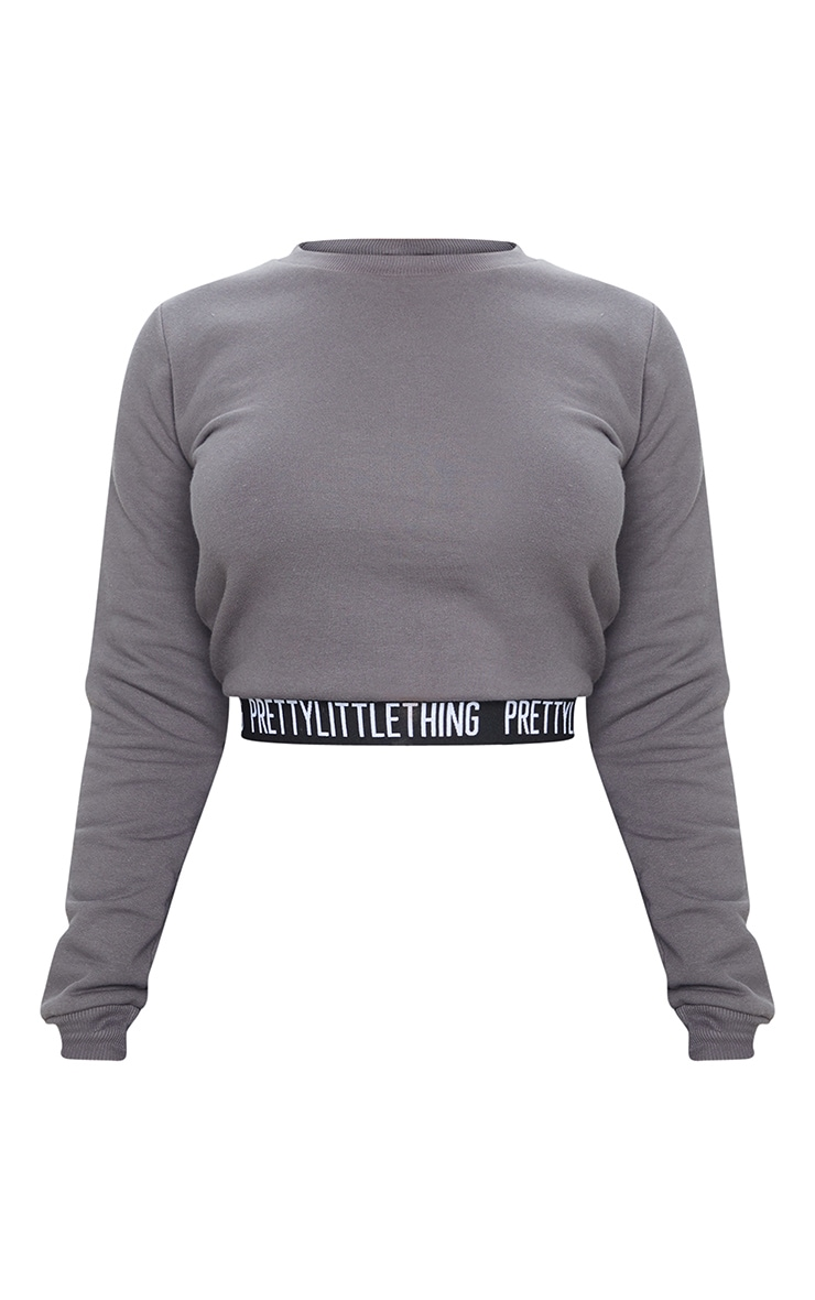PRETTYLITTLETHING Petite Charcoal Lounge Sweat 3