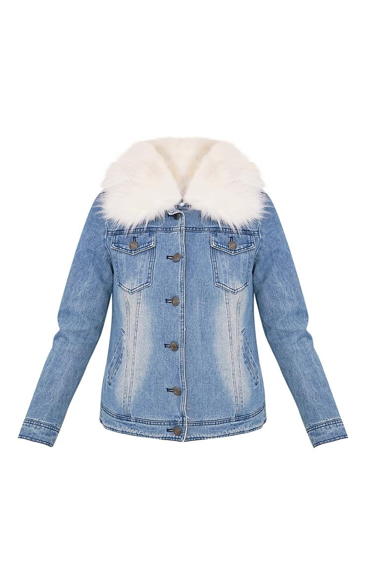Yalena Denim Faux Fur Lined Jacket 3