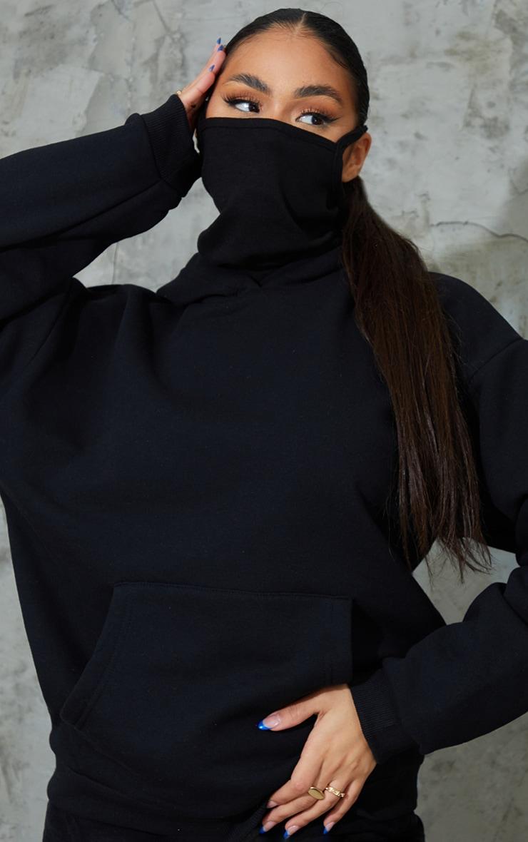 Black Oversized Mask Hoodie 4