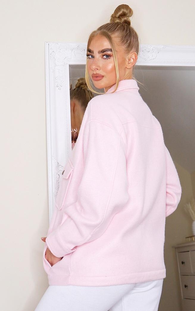 Pink Pocket Front Shacket 2