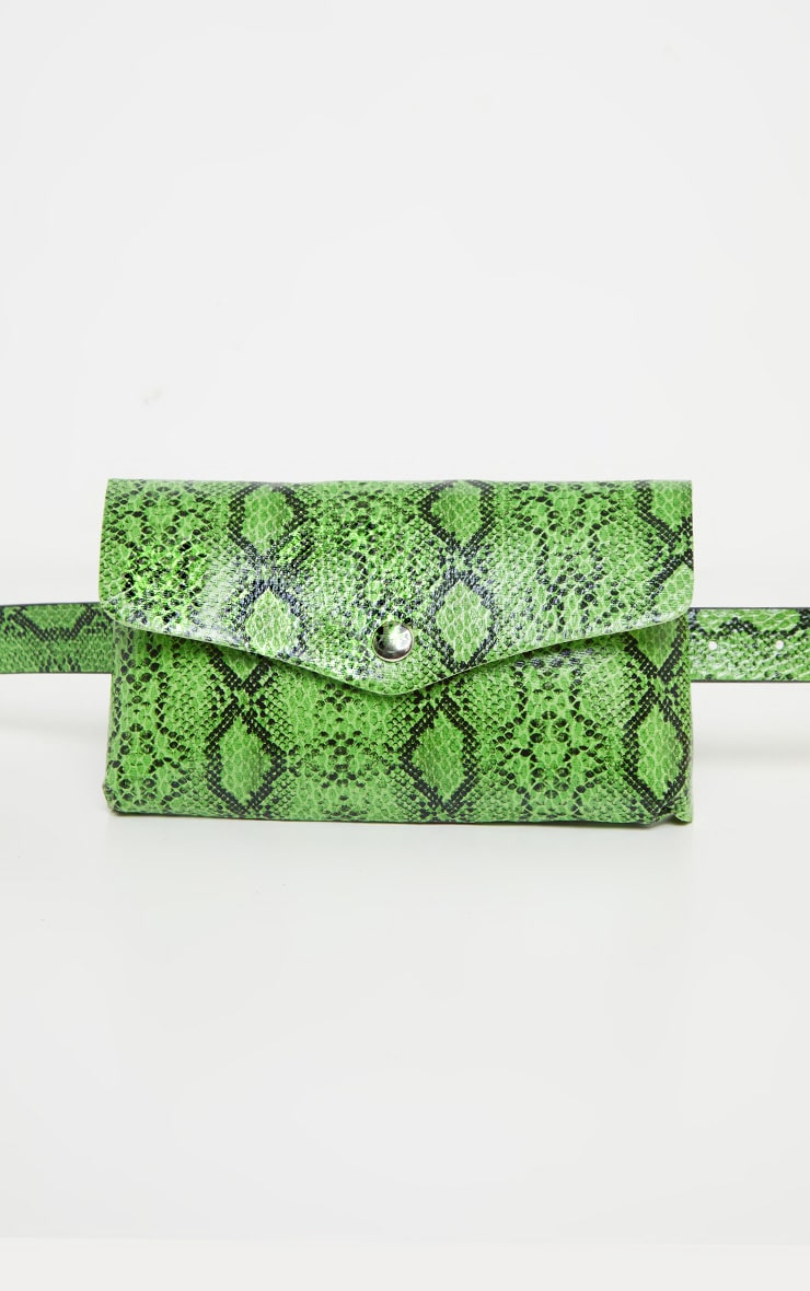 Neon Snake Square Pouch Belt Bag 2
