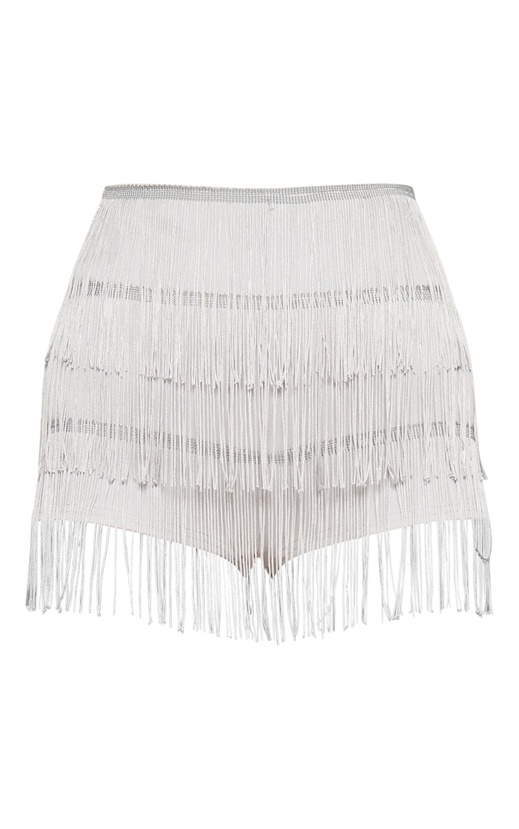 Silver Tiered Fringe Short 3