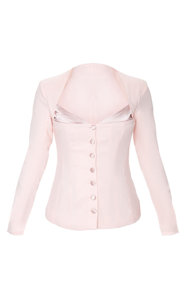 Blush Boned Corset Button Up Blazer 5