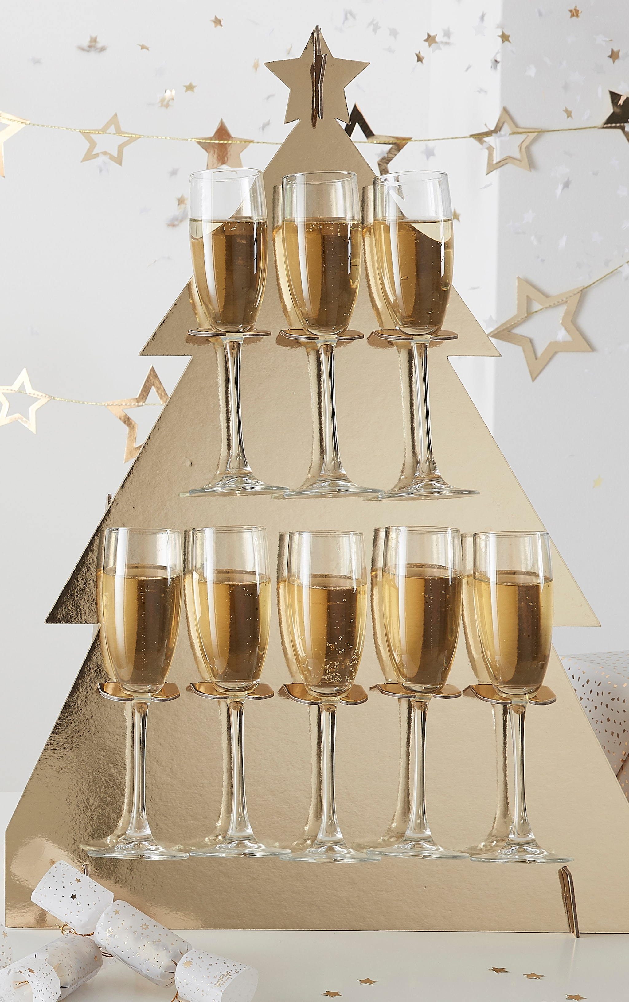 Ginger Ray Prosecco Wall Christmas Tree  Gold 1
