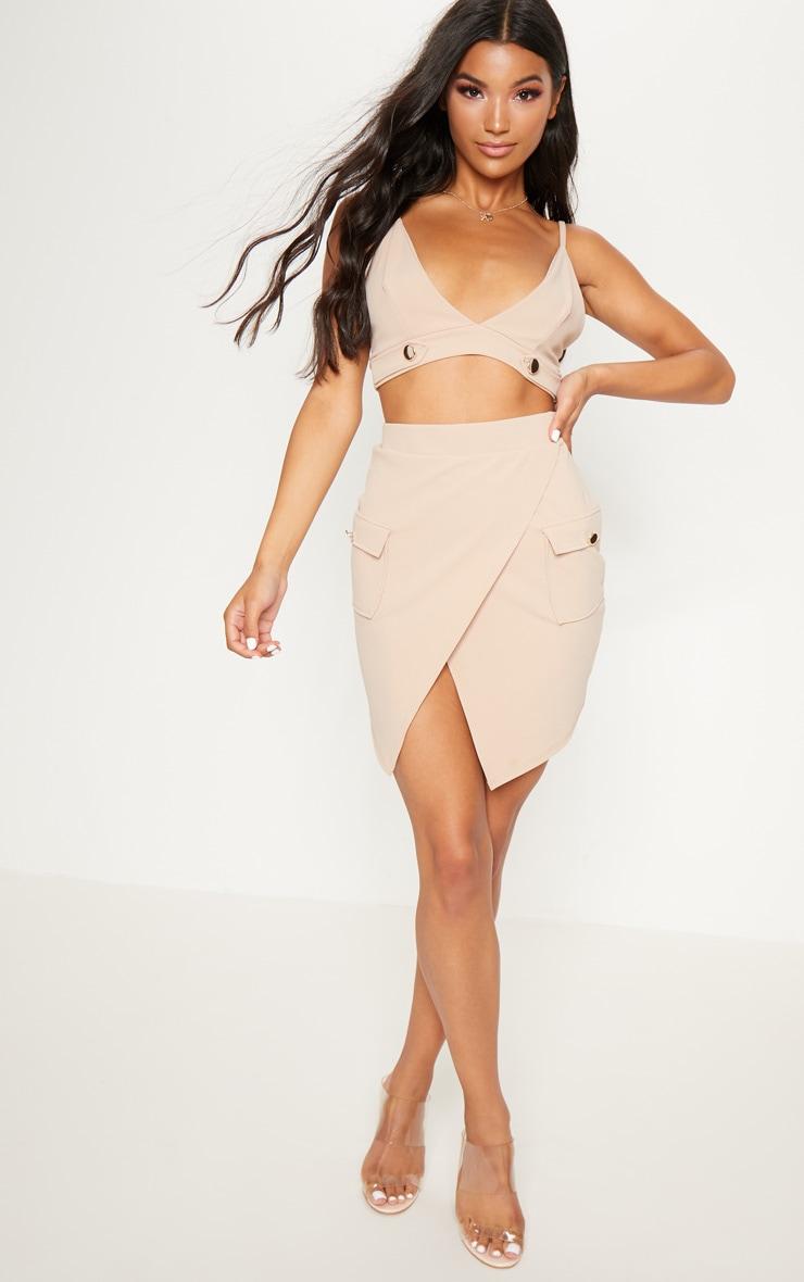 Stone Military Pocket Mini Skirt  5
