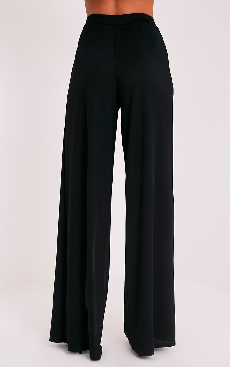 Chanelle Black Wrap Split Trousers 5