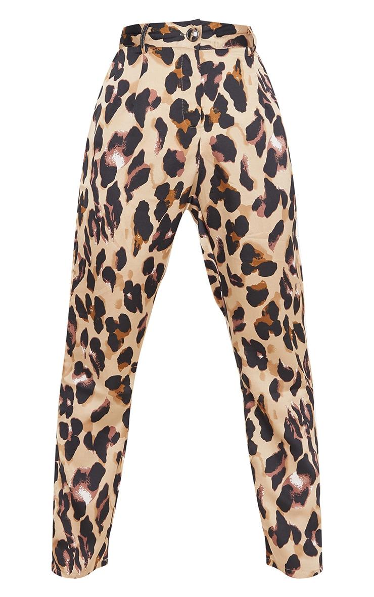 Leopard Print Satin Feel Printed Slim Leg Trouser 3