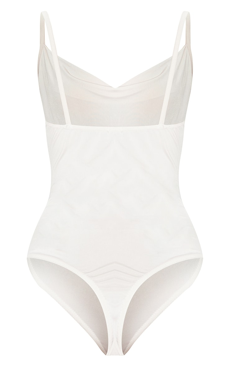 Nude Soft Touch Cowl Neck Bodysuit 6