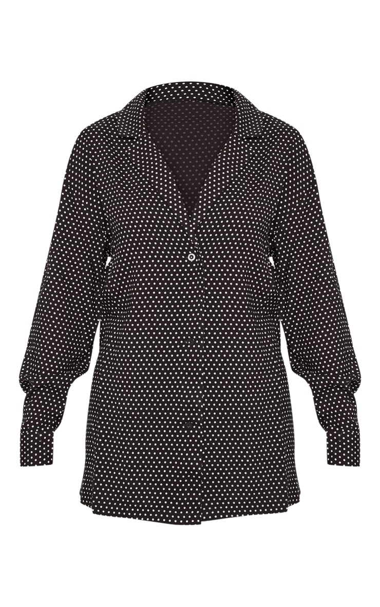 Black Polka Dot Button Shirt 3