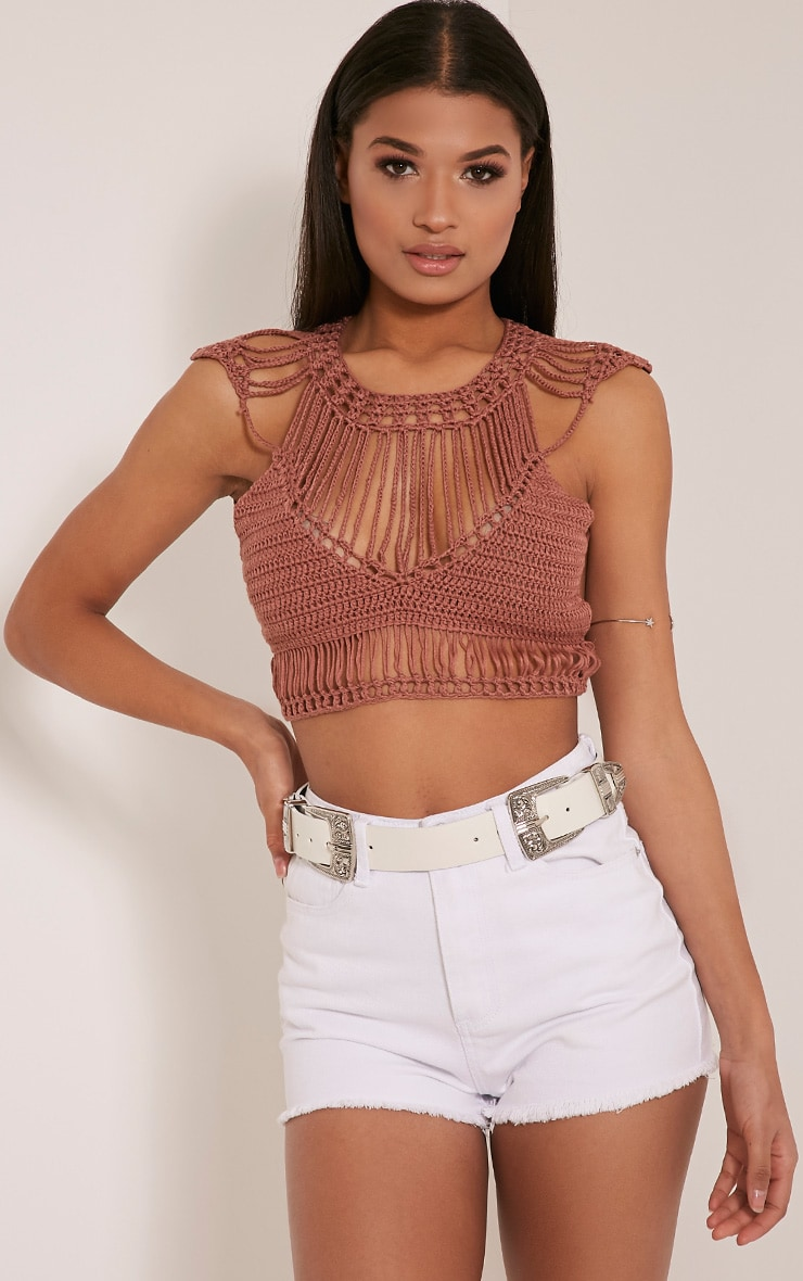 Samanthee Rose Crochet Crop Top 1