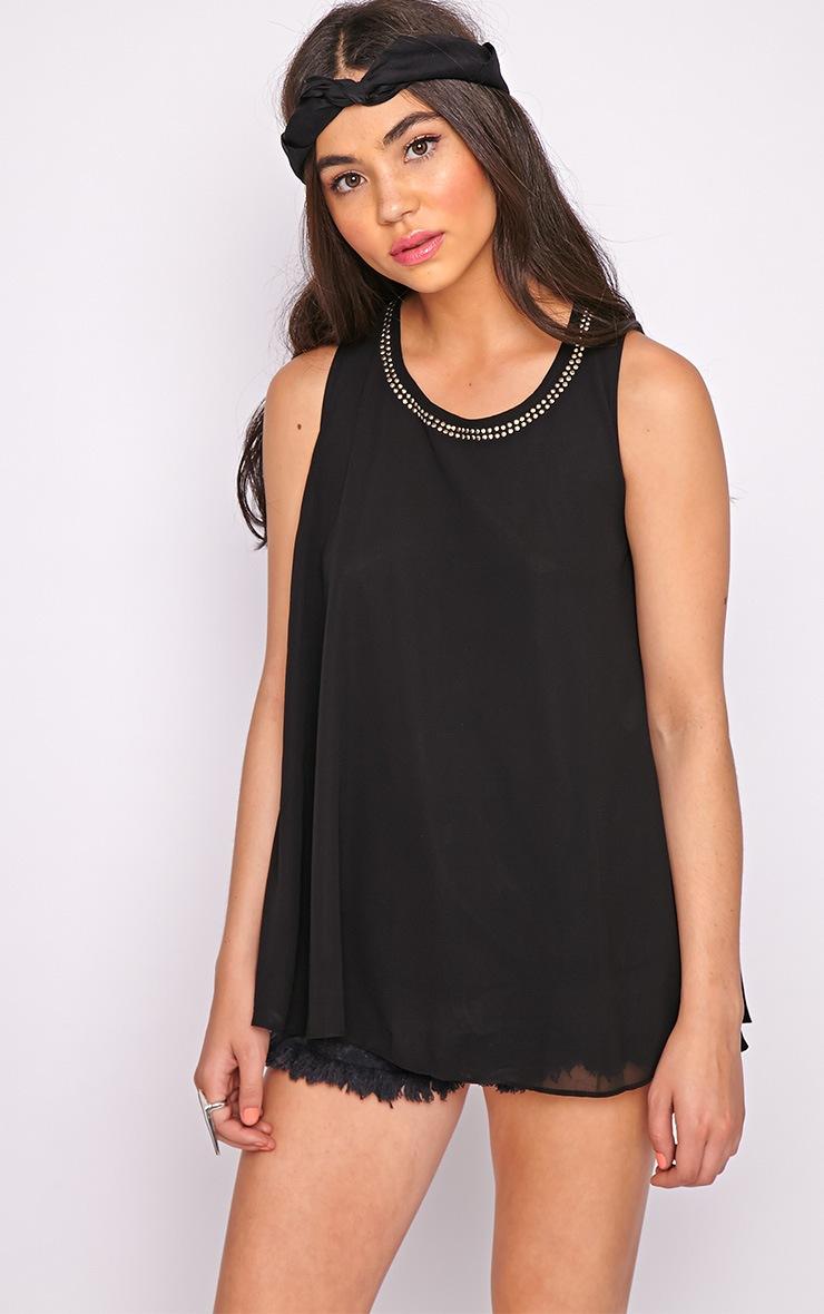 Lizzy Black Studded Swing Vest  5