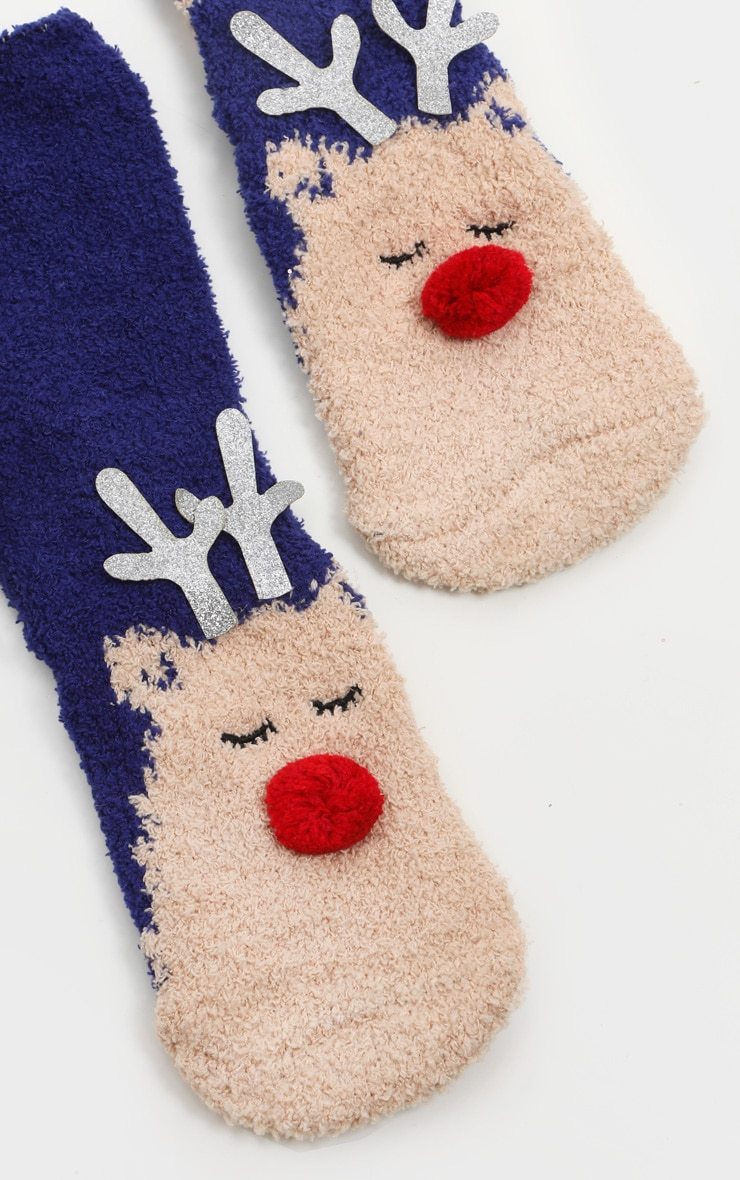 Reindeer Socks in Box 3
