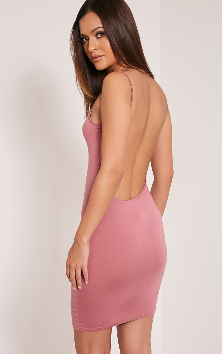 Natallia Rose Scoop Back Dress 1