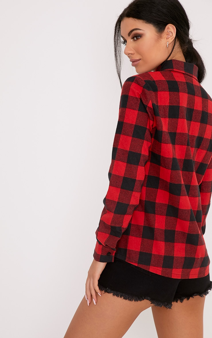 Layla Red Checked Shirt  1