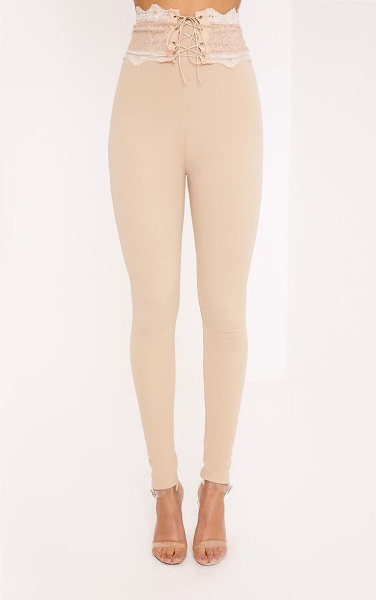 Azalea Stone Lace Corset Waist Trousers 2