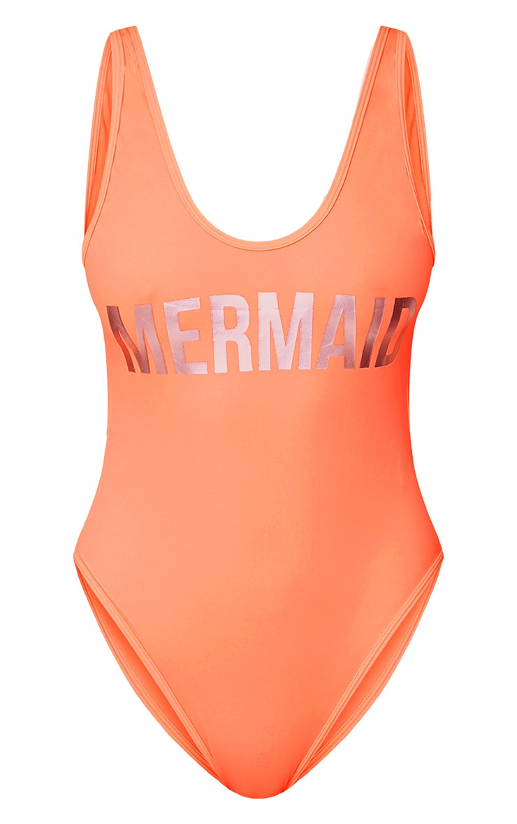 Angela Coral Mermaid Swimsuit 3