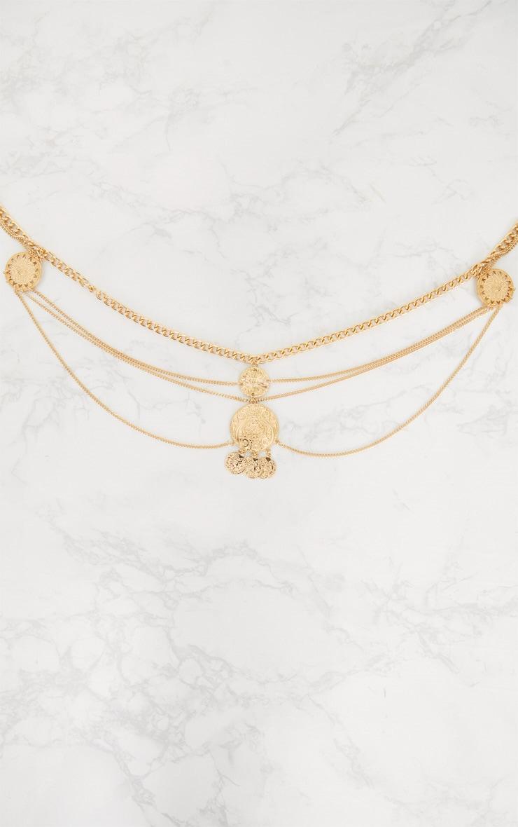 Gold Coin Drop Chain Belt 3