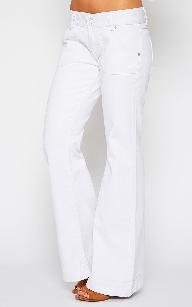 Tierna White Flared Jean 3