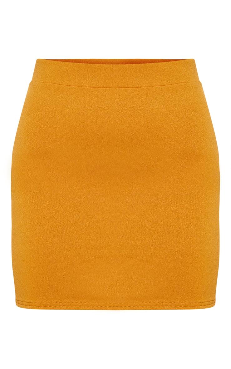 Mustard Mini Skirt 3